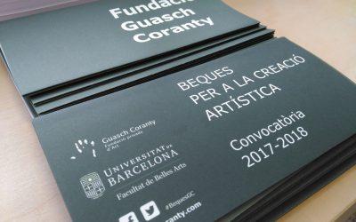 Projectes guanyadors de les Beques per a la Creació artística 2017-2018