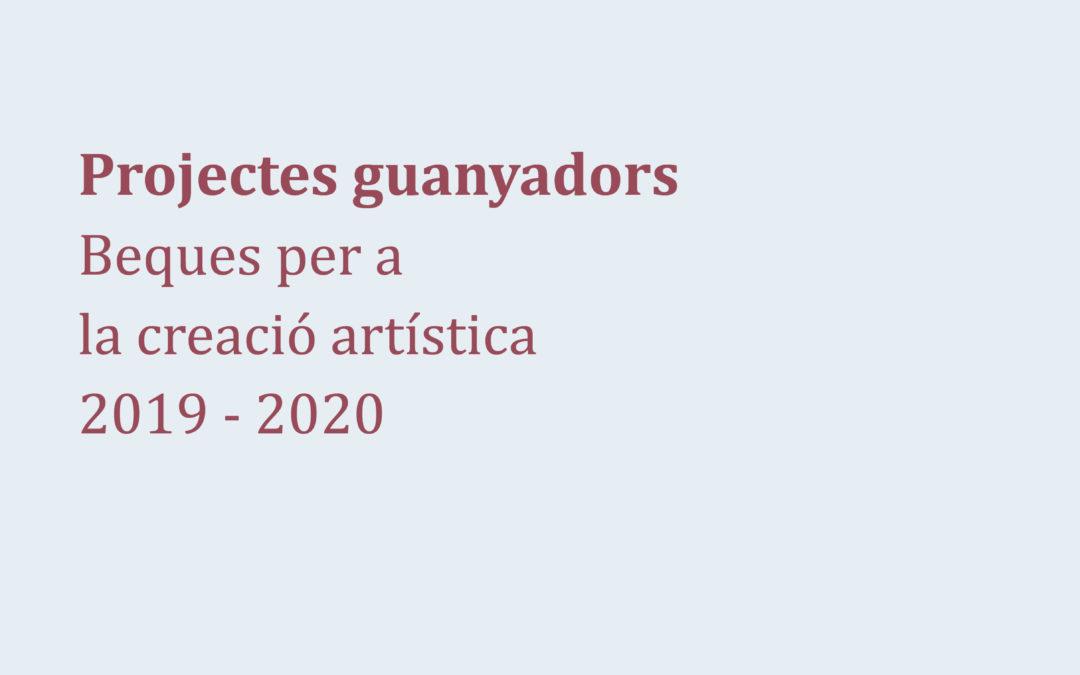 Projectes guanyadors 2019-2020