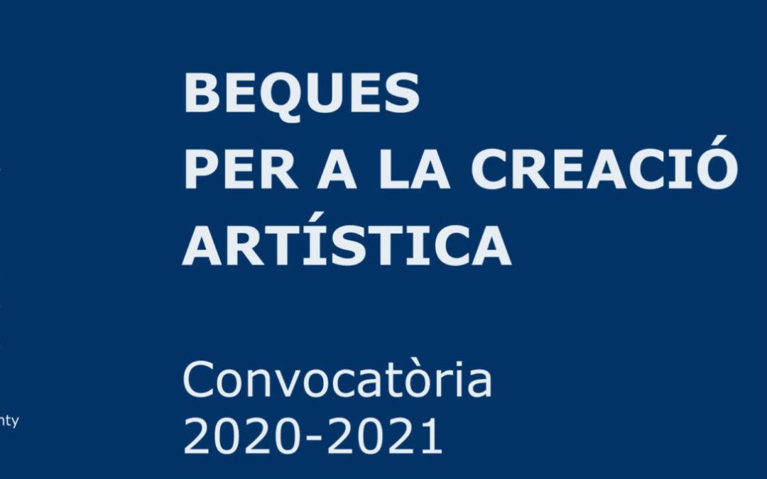 Nova convocatòria de Beques per a la creació artística