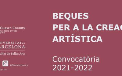 Nova convocatòria Beques per a la creació artística 2021-2022
